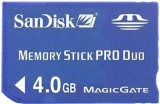 SanDisk Memory Stick Pro Duo 4GB Standard