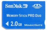 SanDisk Memory Stick Pro Duo 2GB Standard